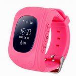 детские часы с GPS розовые