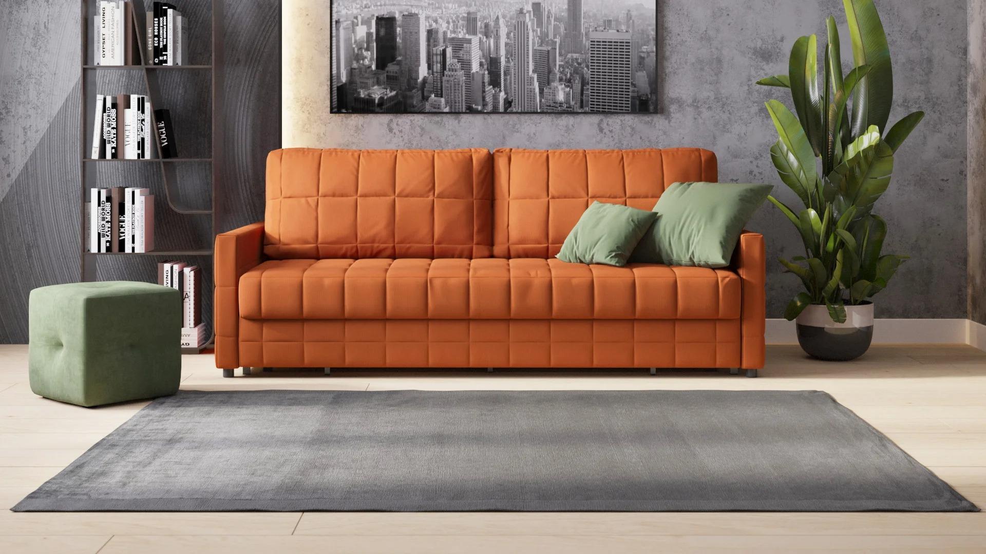 диван с механизмом тик так оранжевый