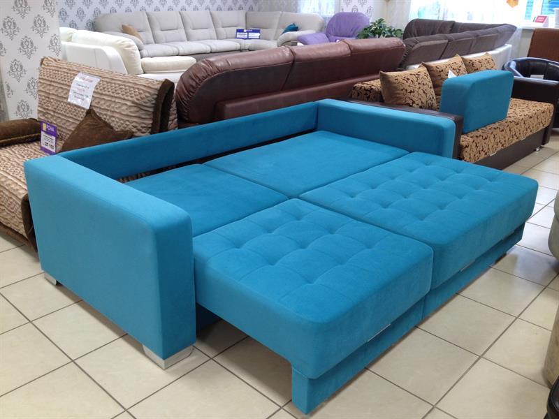 диван с механизмом тик так синий