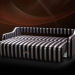 раскладной диван в полоску