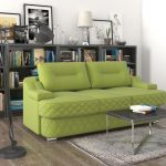 светло-зеленый диван