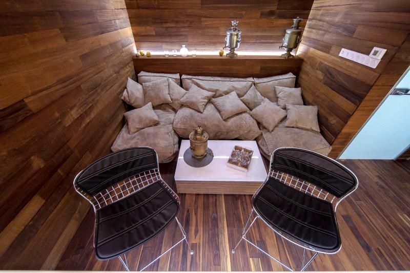 диван в бане