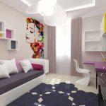 необычное панно в комнате девочки подростка