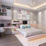 комната для девочки подростка в светлых тонах