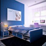 синие тона для комнаты девочки