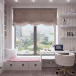 римские шторы в комнате подростка