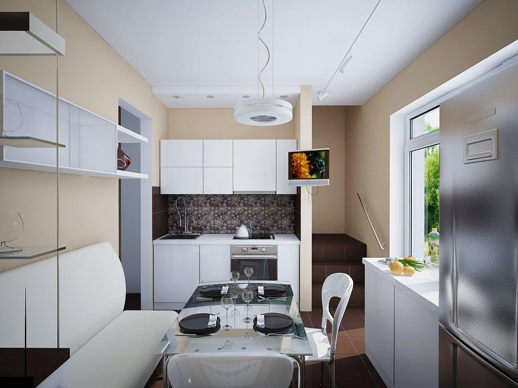 кухня 9 кв м с диваном дизайн потолка