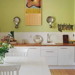 кухня без верхних шкафов идеи фото
