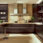 кухня без верхних шкафов модерн