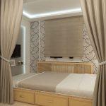 узкая комната под кровать
