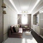узкая комната светлая