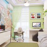 узкая комната для девочки