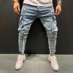 мужские джинсы с маленькими потертостями
