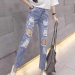 квадратные дырки на джинсах