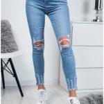 пример джинсов с круглыми дырами