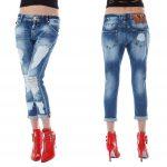 джинсы с большими потертостями
