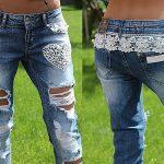 дырки на джинсах с нитками