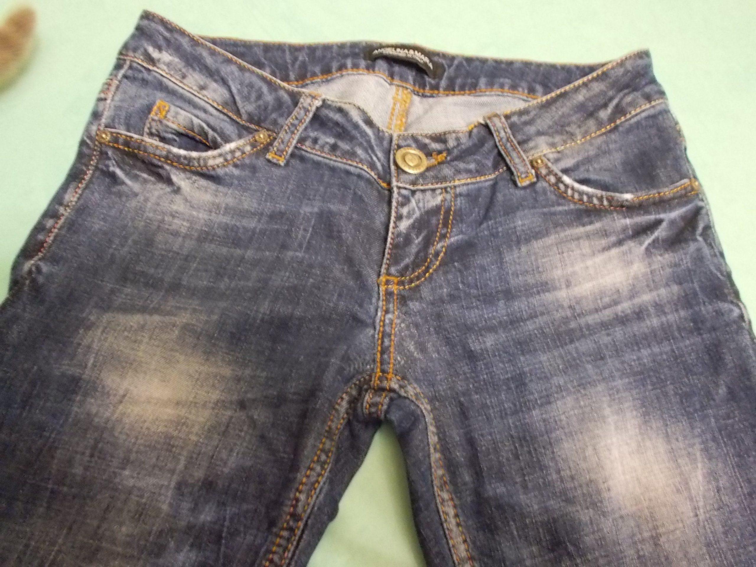 джинсы с потертостями