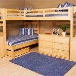 двухъярусная кровать для троих