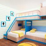 кровать двухъярусная большая
