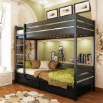 кровать двухъярусная в квартире