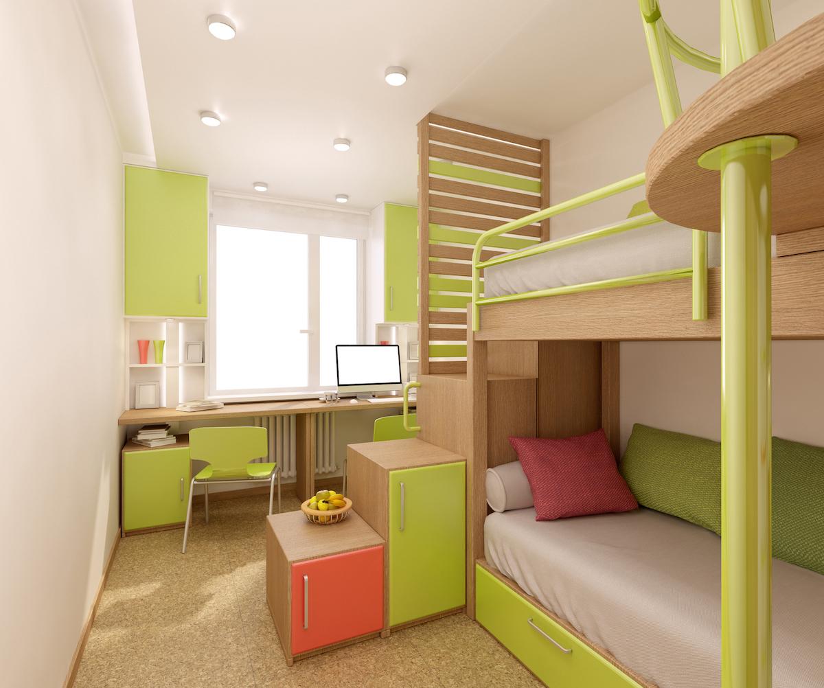 интерьер кровать