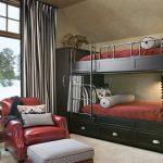 кровать двухъярусная красная