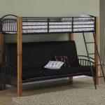 кровать двухъярусная черная