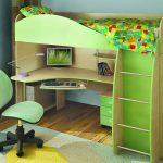 детская кровать с письменным столом