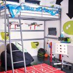 двухъярусная кровать икеа голубая