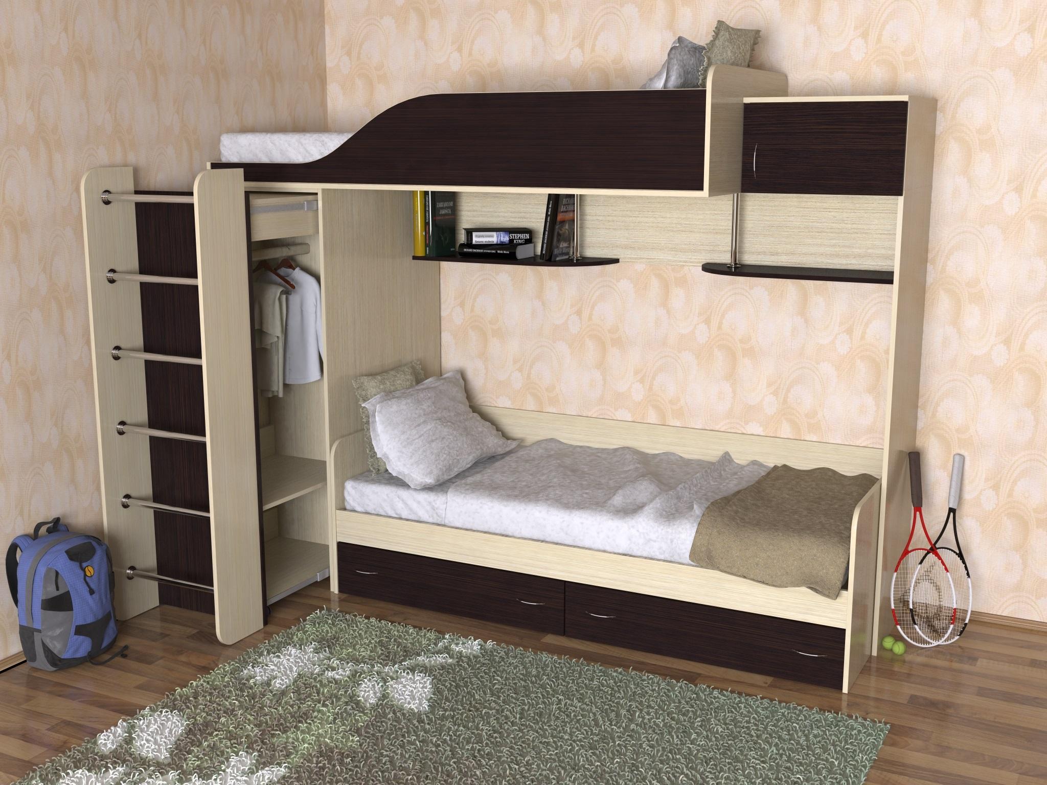 преимущество двухъярусных кроватей