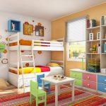 двухъярусная кровать икеа цветная