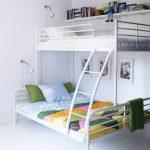 двухъярусная кровать икеа белая