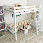 двухъярусная кровать икеа с полукруглым диваном