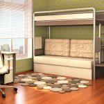 двухъярусная кровать икеа бежевая