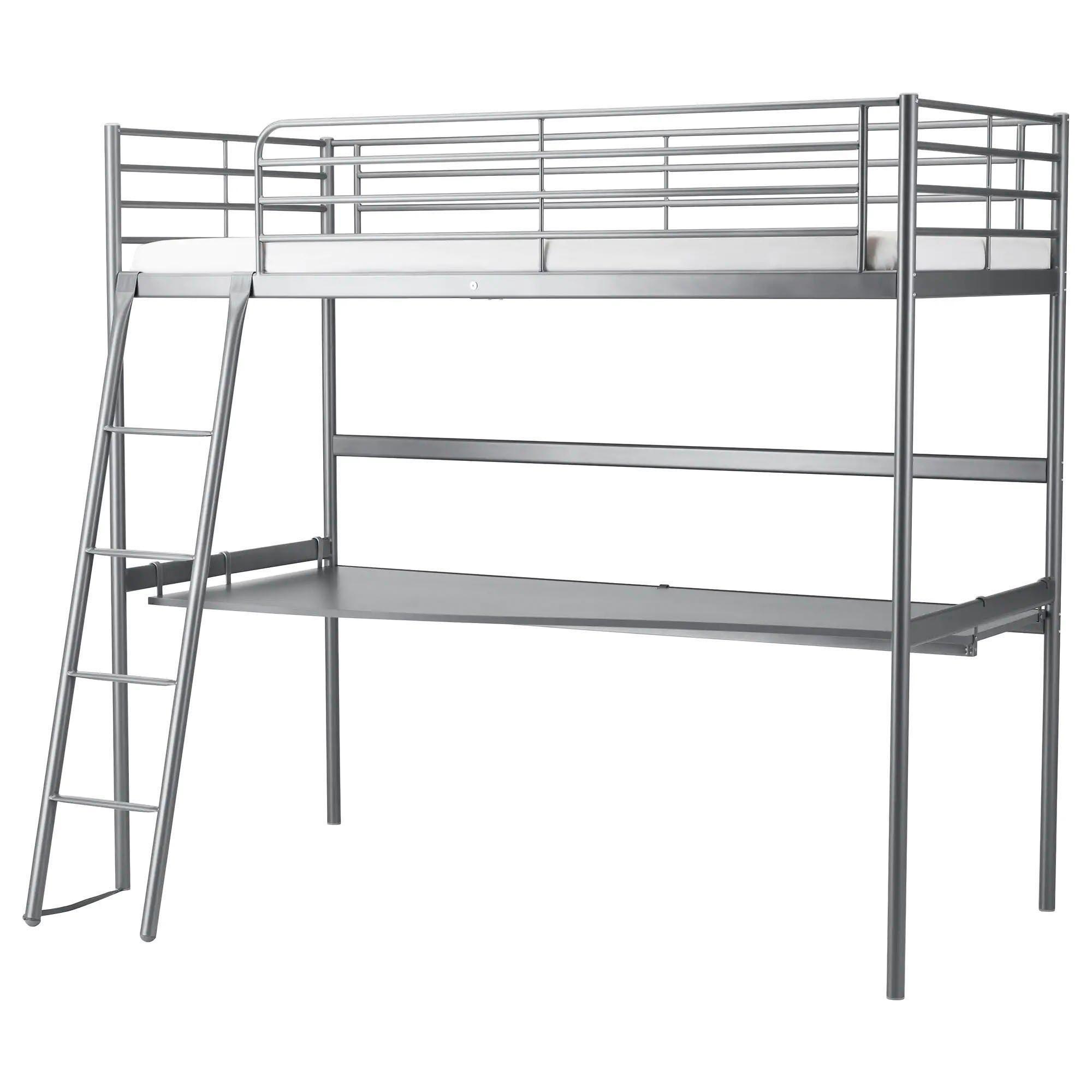 металлическая кровать икеа двухъярусная