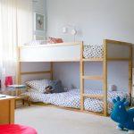двухъярусная кровать икеа низкая