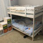 двухъярусная кровать икеа светло-бежевая