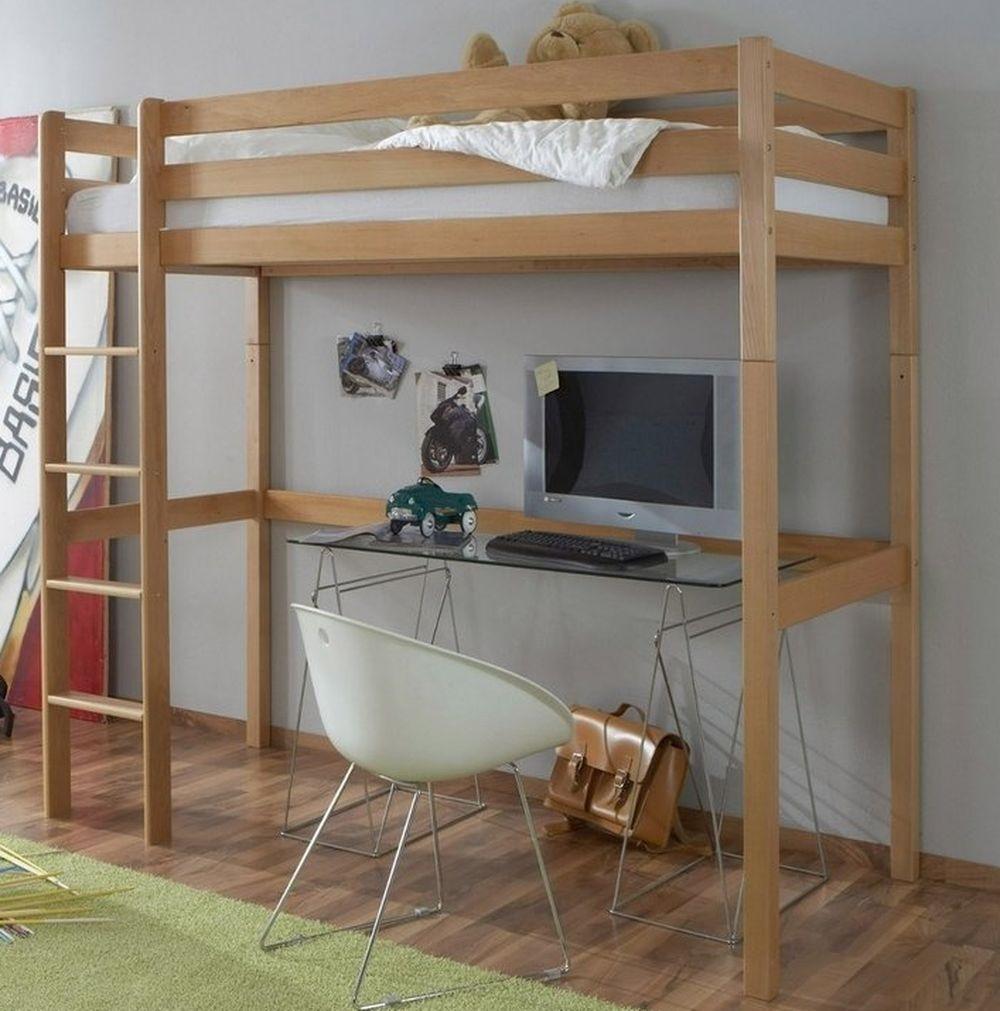 деревянная кровать-чердак икеа