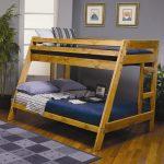детская двухъярусная кровать темно-синяя