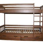 детская двухъярусная кровать коричневая без всего
