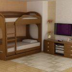 детская двухъярусная кровать с бортиком