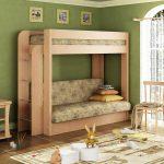 детская двухъярусная кровать ерево с диваном