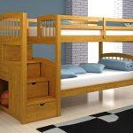 детская двухъярусная кровать желтое дероево
