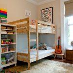 детская двухъярусная кровать натуральное дерево