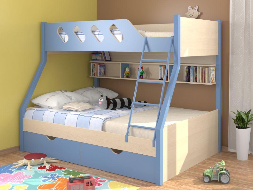 трехспальная кровать двухъярусная