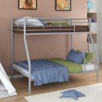 детская двухъярусная кровать синяя с зеленым