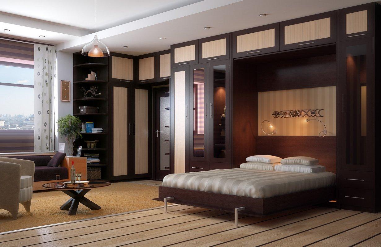 двуспальная кровать шкаф