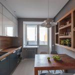эргономичный кухонный гарнитур фото декора