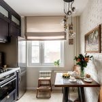 эргономичный кухонный гарнитур интерьер фото